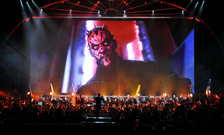 The Royal Philharmonic Orchestra and Choir performing the Star Wars scores.
