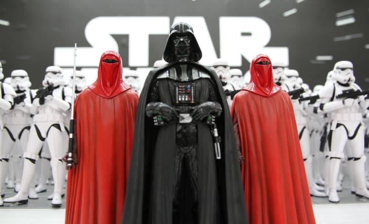 Star Wars action figures.