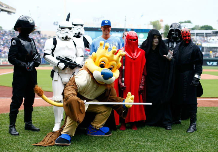 Star Wars Day at an MLB ballpark.