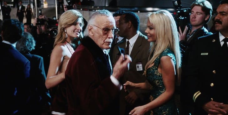 Stan Lee makes a cameo in 'Iron Man' (2008)