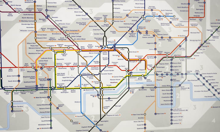 A map of the London Underground