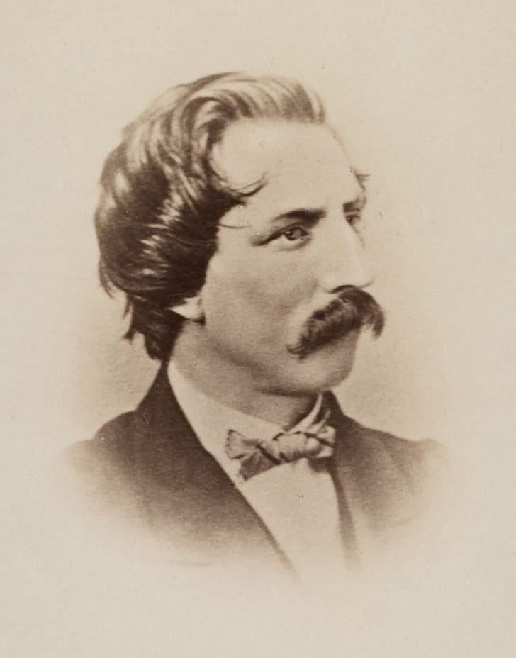 A sepia-toned cabinet card of Artemus Ward
