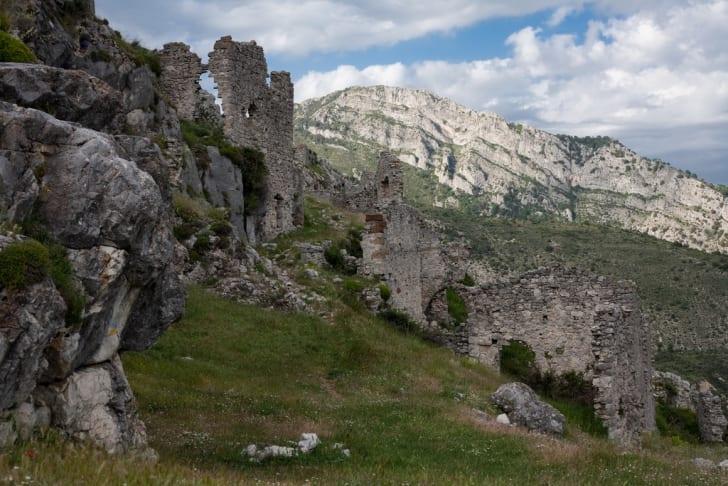 Ruins of the Chateau de Rocca-Sparviera