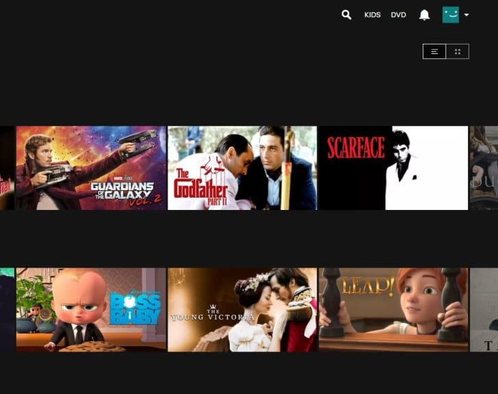 Screenshot of the Netflix Menu