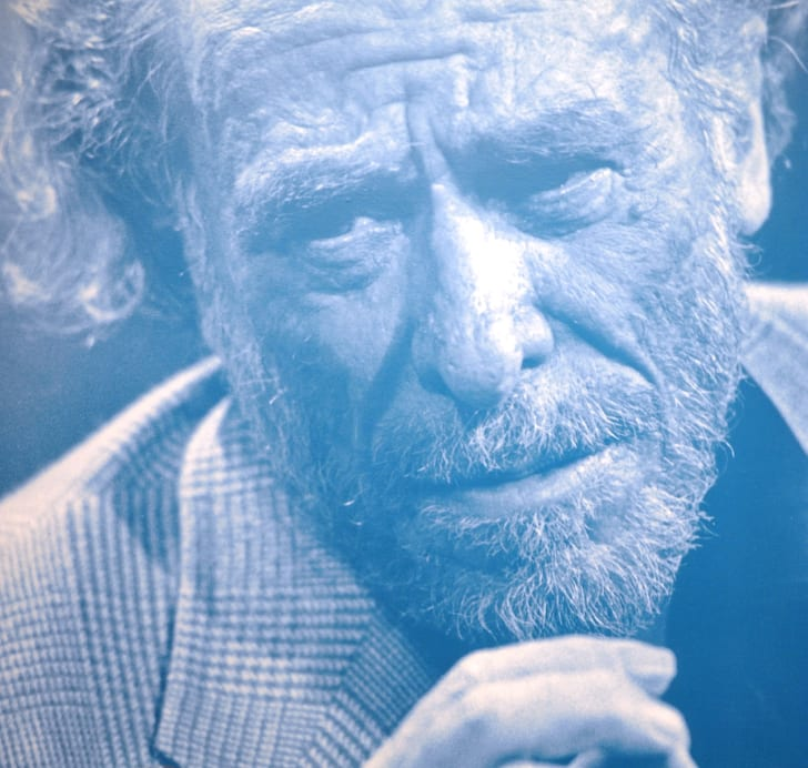 portrait of Charles Bukowski