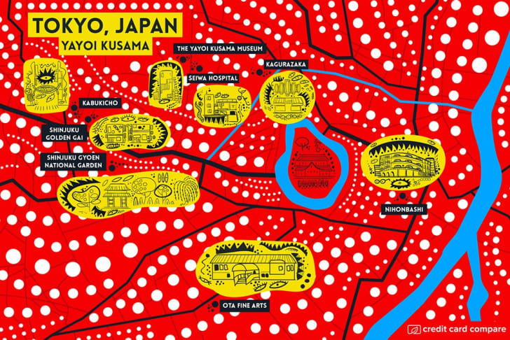An artsy map of Tokyo