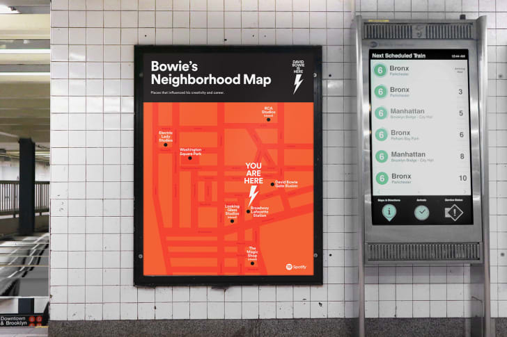 Spotify and the MTA's David Bowie subway takeover