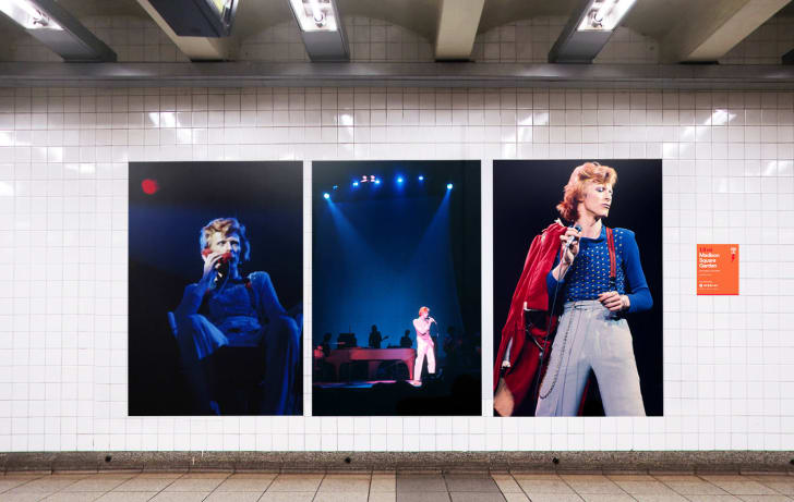 A photo of Spotify and the MTA's David Bowie subway takeover