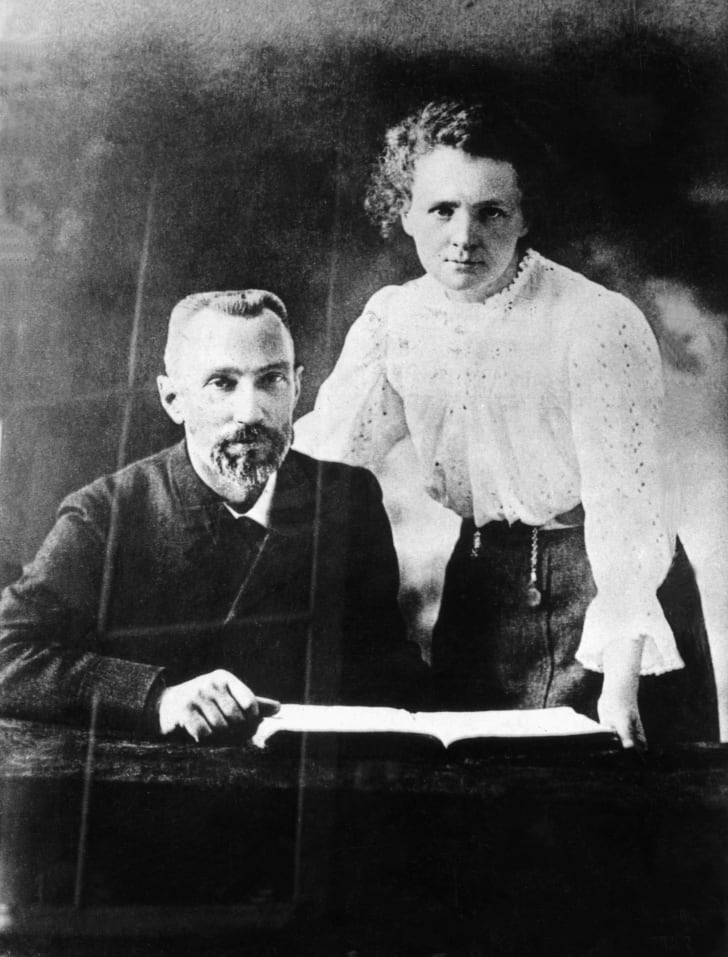 Marie Curie and her husband, Pierre Curie, in 1902.