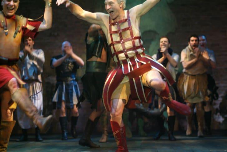 Patrick Stewart in Antony and Cleopatra.
