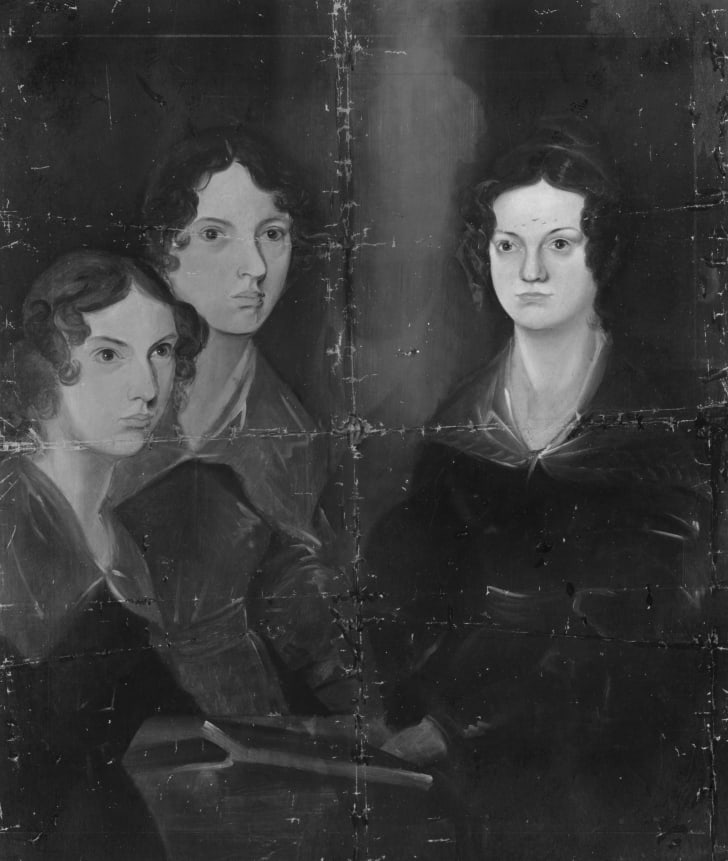 English writers Anne, Emily and Charlotte Bronte.