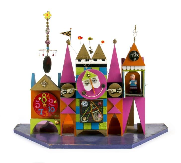 The original clock design for It's a Small World