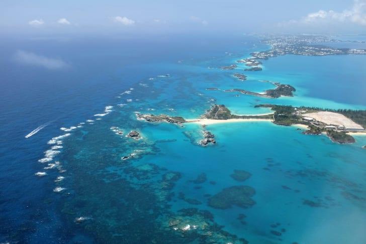 aerial view of bermuda