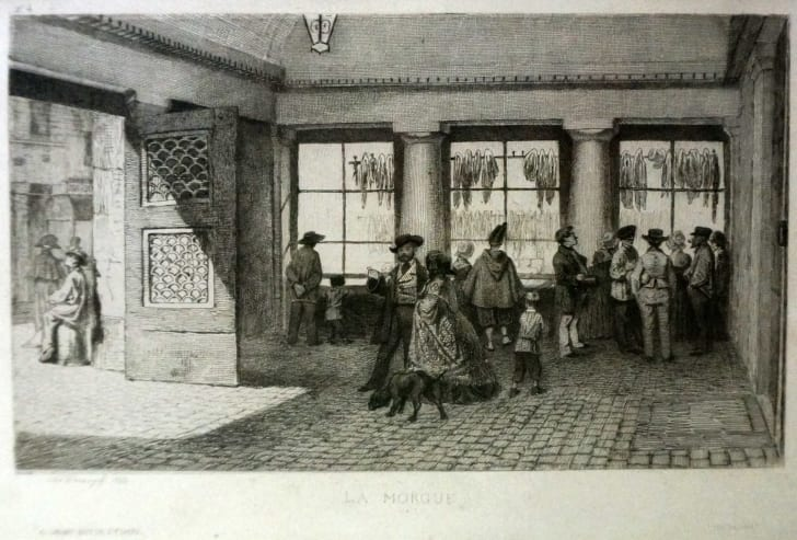 The Paris morgue circa 1855