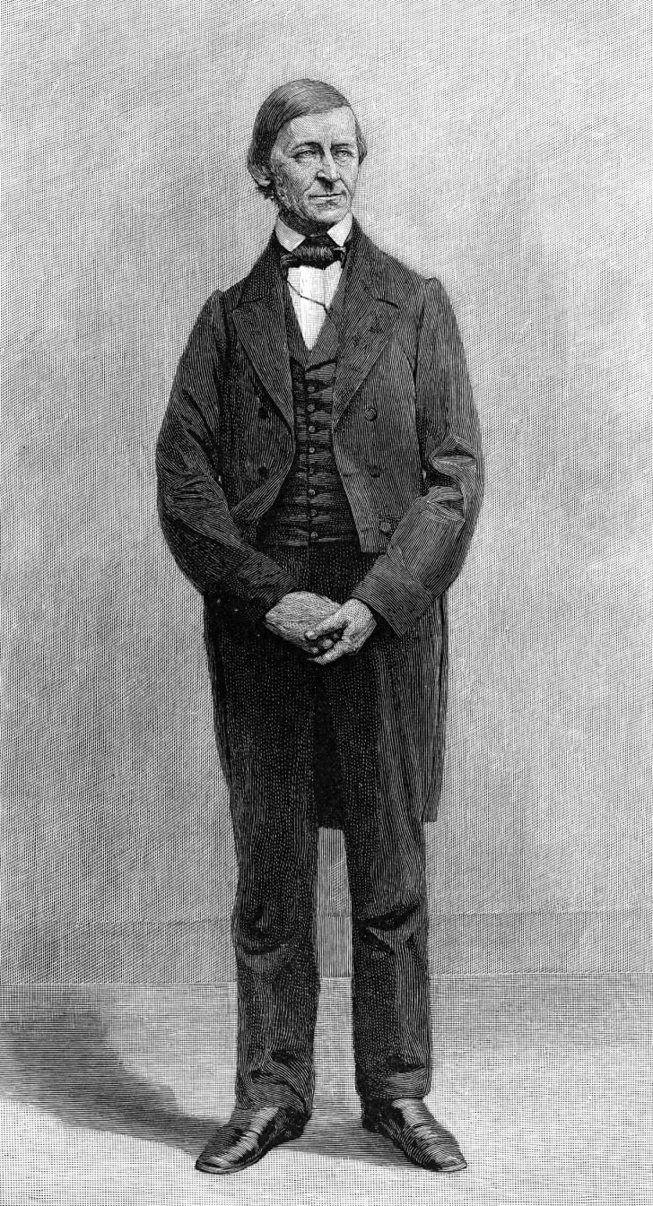 Illustrated portrait of Ralph Waldo Emerson