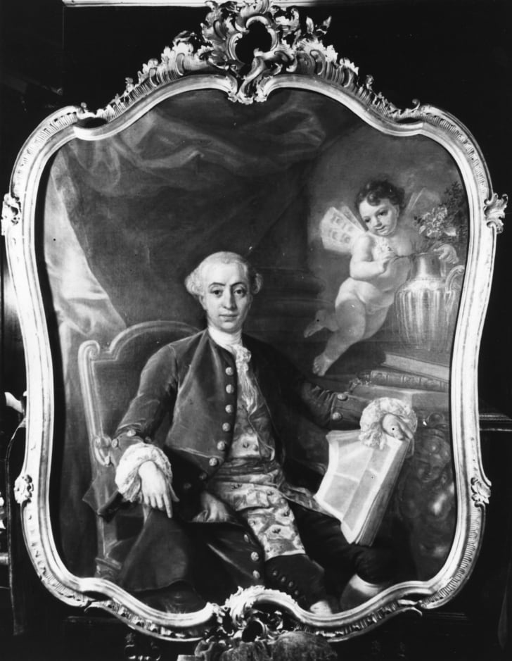 Venetian-born adventurer, abbe, alchemist, cabalist, magician, gambler, violinist and womaniser Giovanni Giacomo Casanova