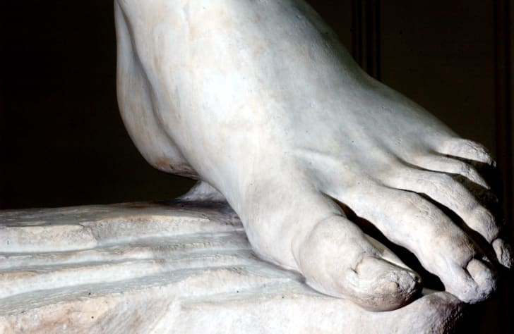 A close-up image of 'David's' foot