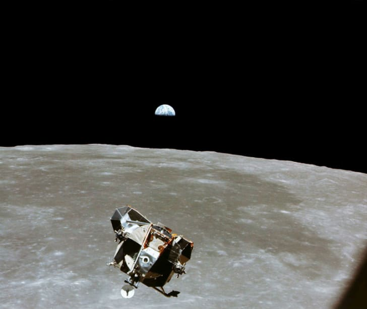 The lunar module that took NASA astronauts to the moon