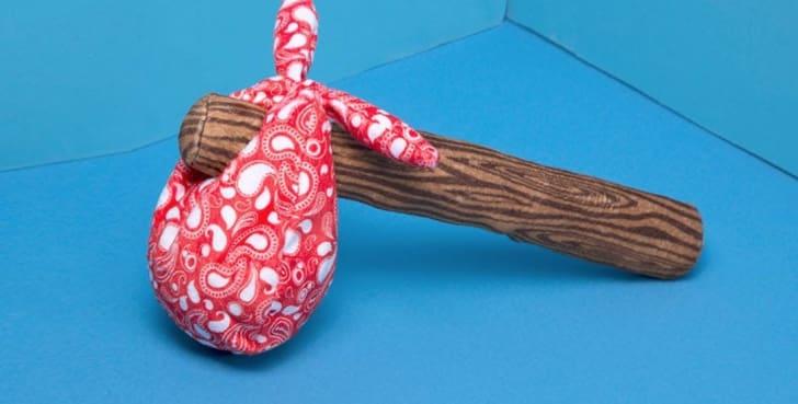 Rucksack dog toy