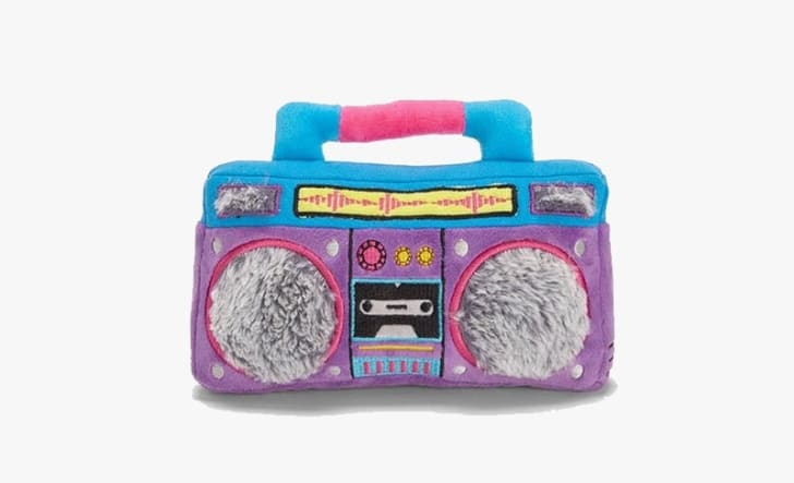 boom box dog toy