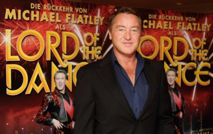 'Lord of the Dance' star Michael Flatley poses during a public appearance