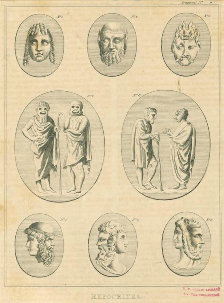 ancient roman theater masks