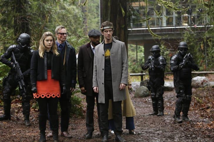Rachel Keller, Bill Irwin, Jeremie Harris, and Dan Stevens in 'Legion'
