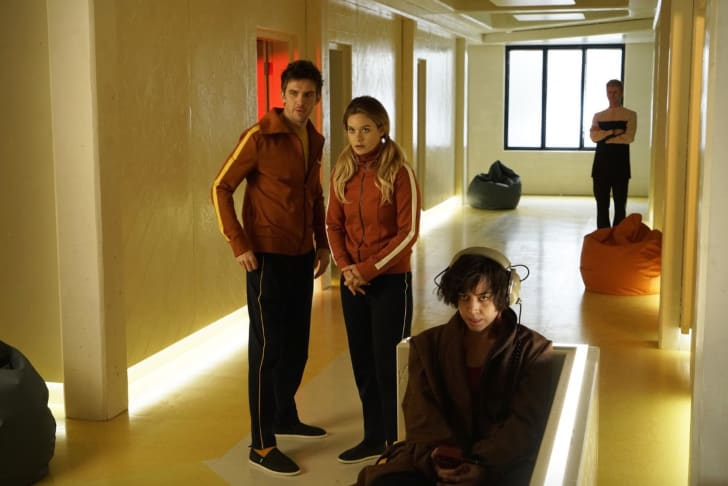 Dan Stevens, Rachel Keller, and Aubrey Plaza in 'Legion'