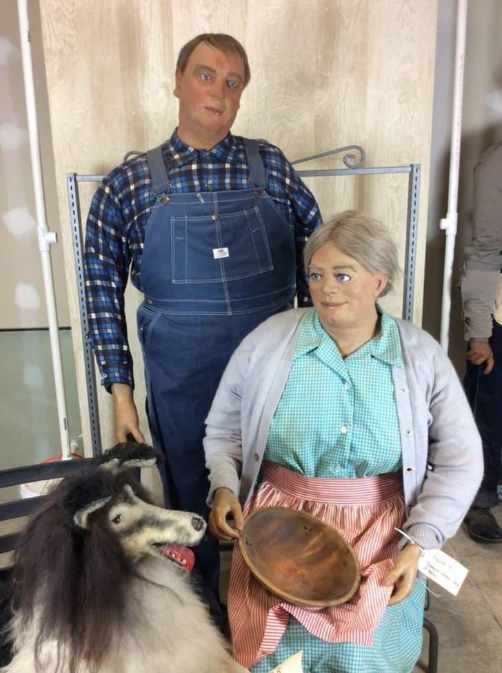Amish wax figures