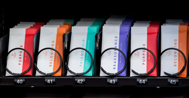 Items in vending machine.