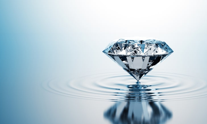 Diamond on water