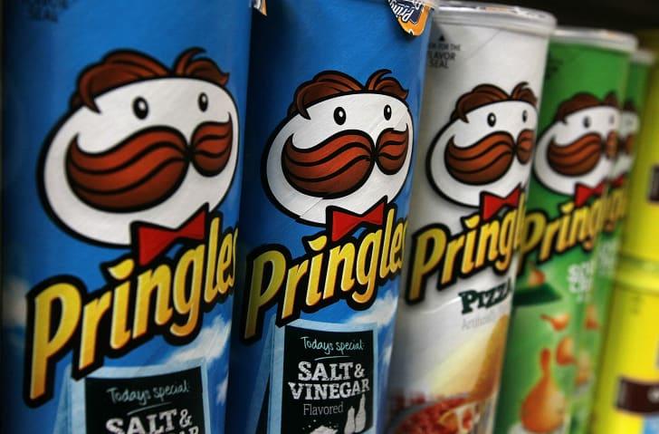 Pringles on shelf