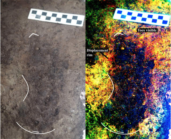 A 13,000-year-old human footprint on Calvert Island, British Columbia, Canada