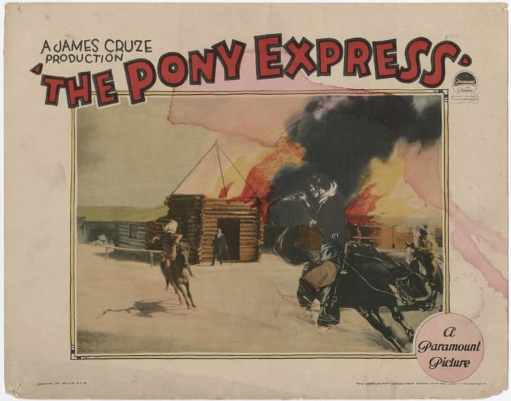 A film poster that reads 'The Pony Express' from Paramount Pictures
