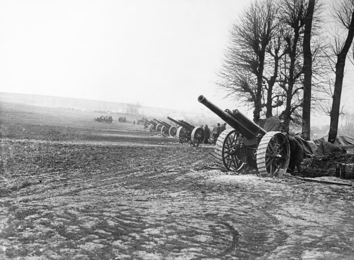 Gun line, World War I