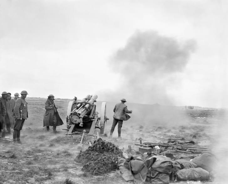 The German spring offensive, World War I, 1918