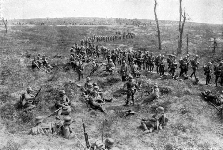 Germans at the Somme, 1918