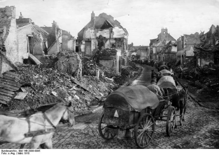 Bapaume ruins, 1918
