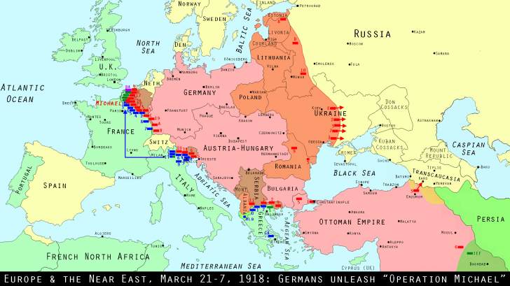 Europe, March 21-31, 1918