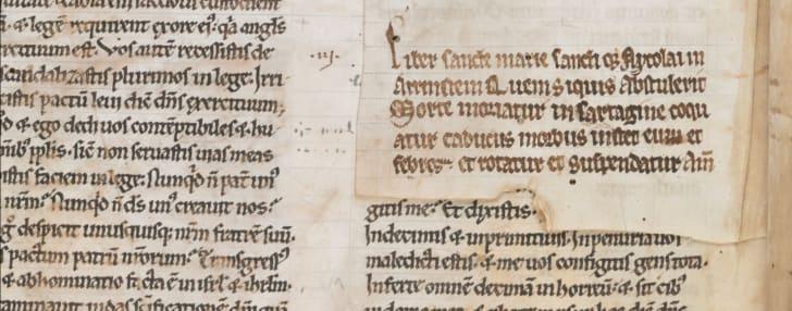 A book curse from the Arnstein Bible, circa 1172