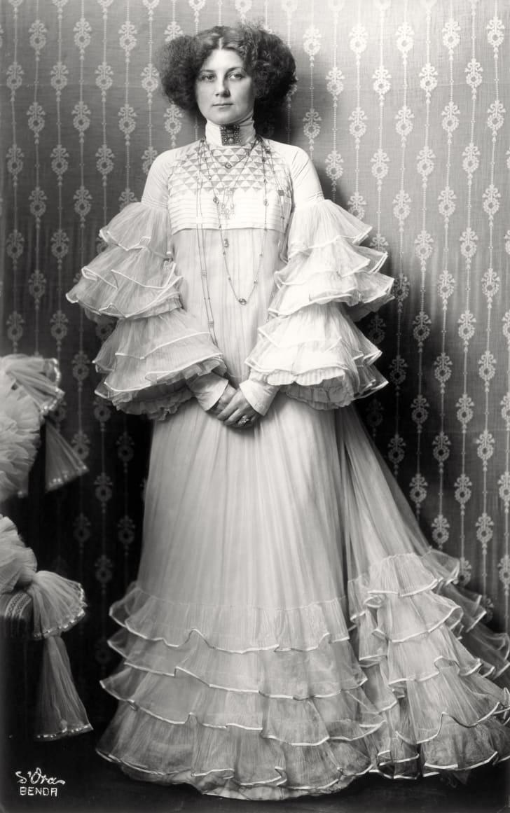 Emilie Floege In A Reform Dress Designed By Eduard Josef Wimmer-Wisgrill.