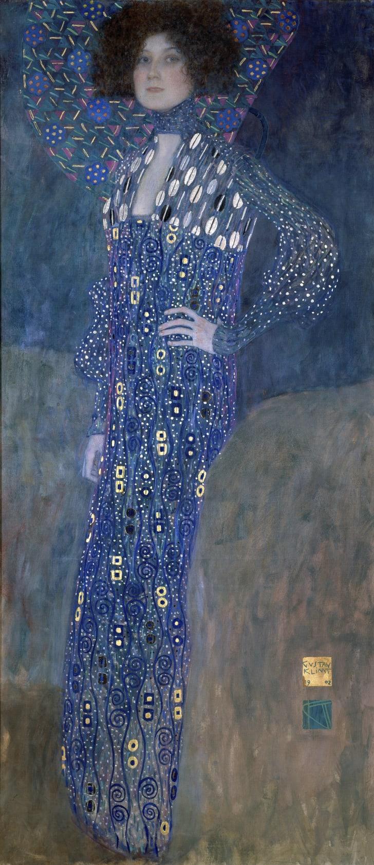 Emilie Louise Floege (Floge) by Gustav Klimt