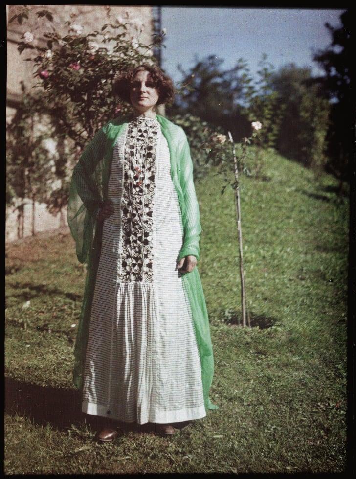 Emilie Floege wearing a dress