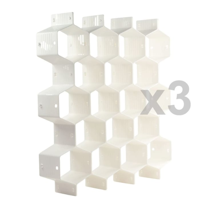 White Honeycomb Drawer Dividers