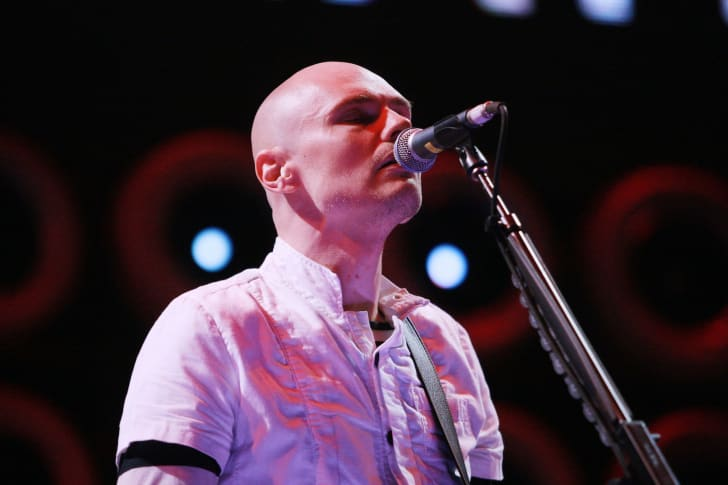 Singer/Guitarist Billy Corgan of Smashing Pumpkins performs onstage during Live Earth New York at Giants Stadium on July 7, 2007 in East Rutherford, New Jersey