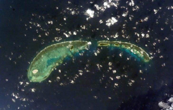Tree Island among the Paracel Islands, South China Sea