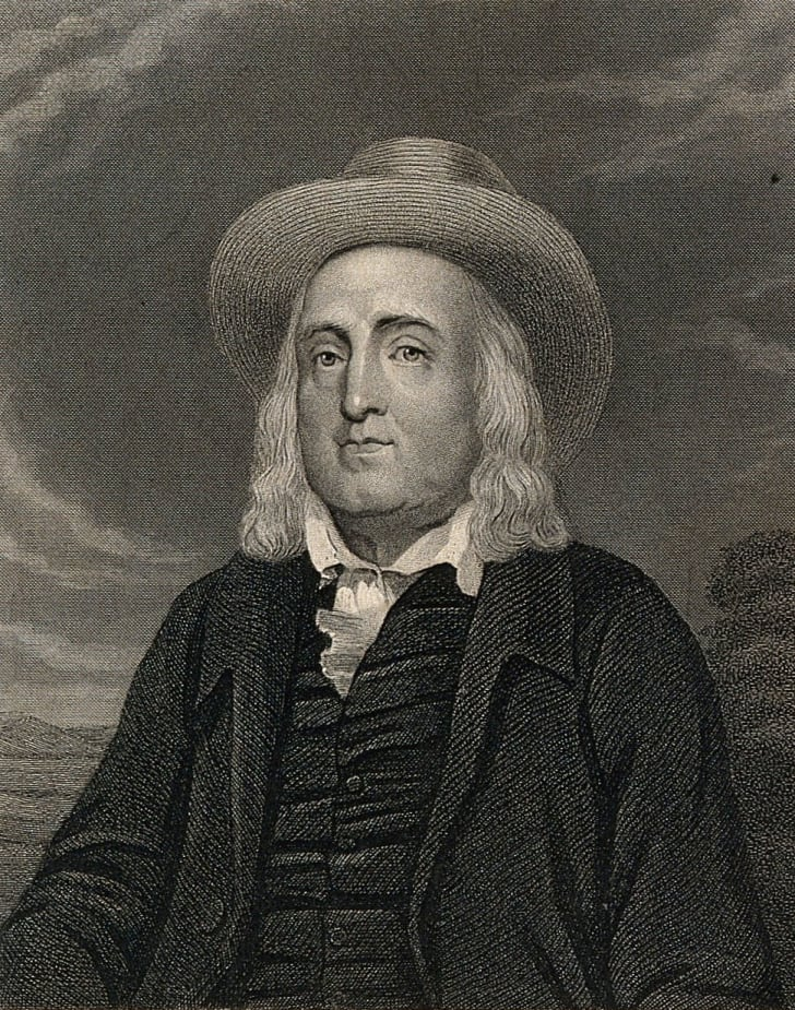 Engraving of Jeremy Bentham by J. Posselwhite