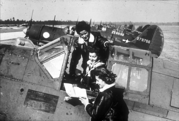 WASP pilots are photographed circa 1943