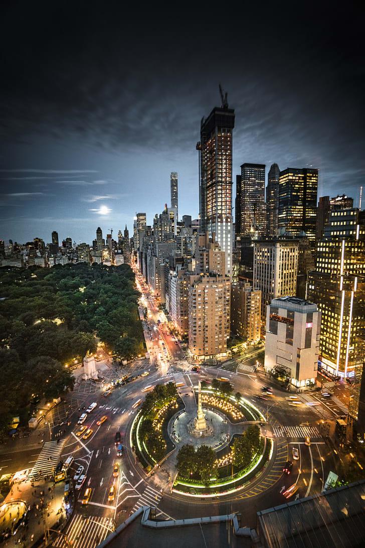 Columbus Circle in Manhattan