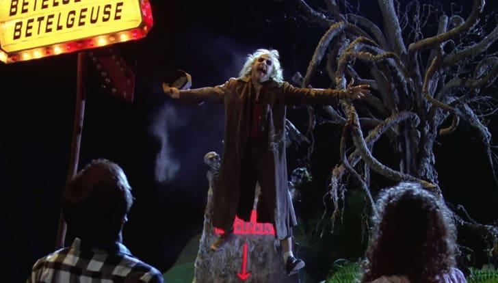 Michael Keaton, Alec Baldwin, and Geena Davis in 'Beetlejuice' (1988)
